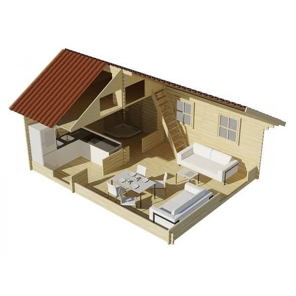 Casas de madera natural oferta caba a for Oferta cabanas de madera