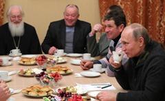 Vladimir Putin meeting Novgorod fishermen