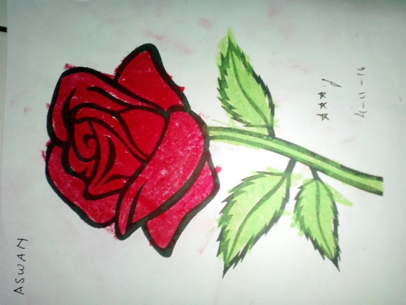Mewarnai gambar bunga mawar Jumat 4 November 2016