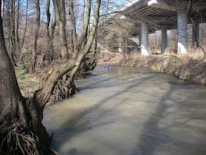 Photo: i płynę od mostu na DK 94