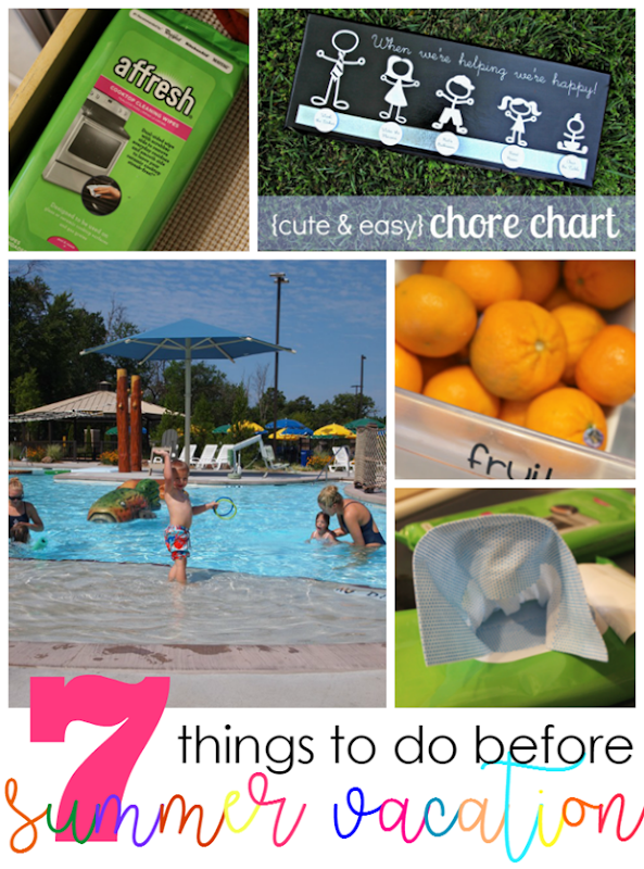 7 Things to Do Before Summer Vacation #affresh #ad