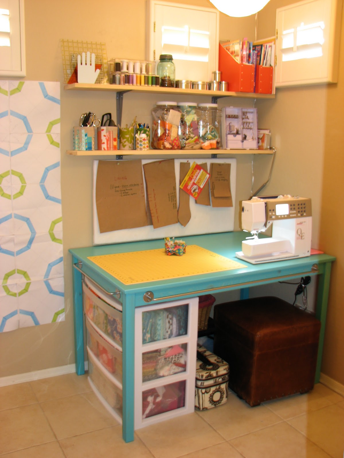 Designing A Sewing Room: I.D:: Sewing Room
