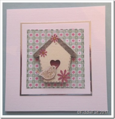 Liuttle Bird and Bird House Birthday Card