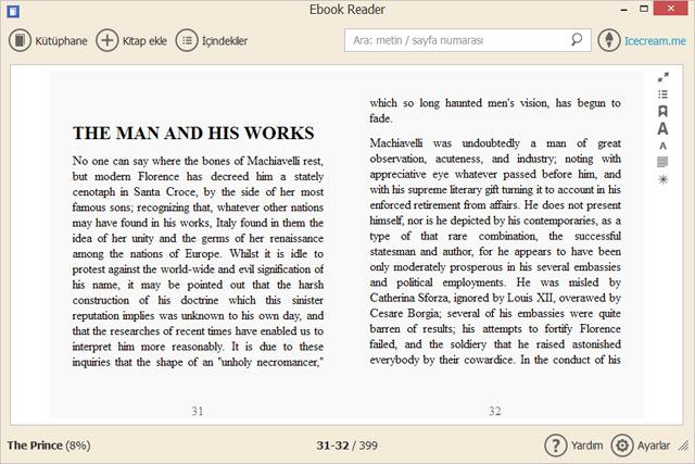 Icecream Ebook Reader Pro 4.33 Türkçe