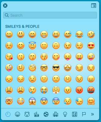 emoji keyboard in mac