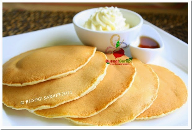 PANCAKES WITH WHIPPED VANILLA CREAM & SYRUP © BUSOG! SARAP! 2011