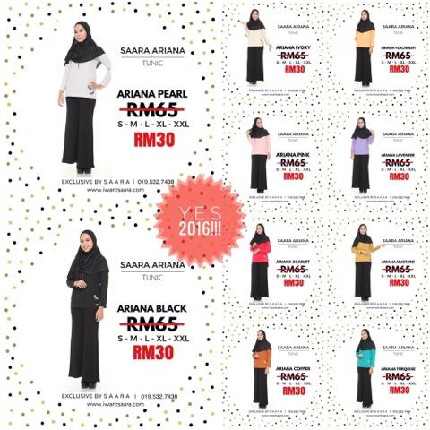 Blouse Murah Bawah RM50, Blouse Wudhu' Friendly, Tunic Murah Malaysia