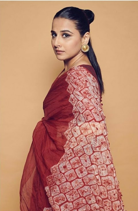 Vidya Balan Subtle Shibori Sari is perfect for sultry summer's !