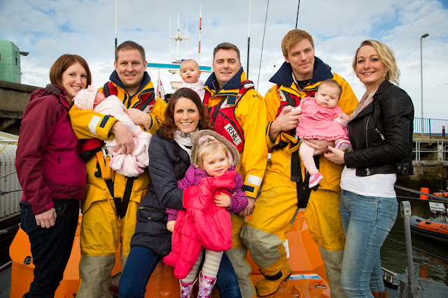 (From back left) Debs, Bethan, Dave, Fay, Glen, Pete, Evalyn, Kayleigh (Front middle) Nikki and Ava 25 January 2014 Photo: RNLI/Nathan Williams