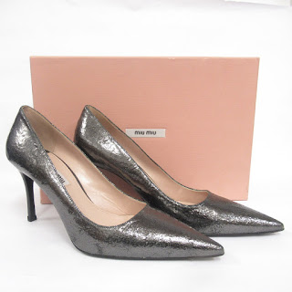 Miu Miu Anthracite Pumps