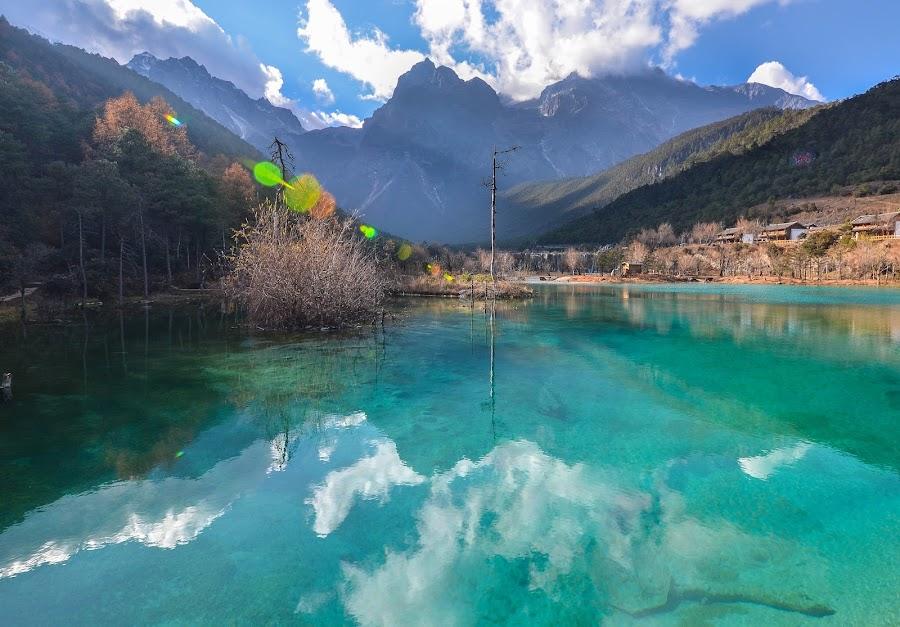 Jade Dragon Snow Mountain by Roy Cheung - Landscapes Waterscapes ( yunnan, reflection, blue moon lake, lijiang, china )