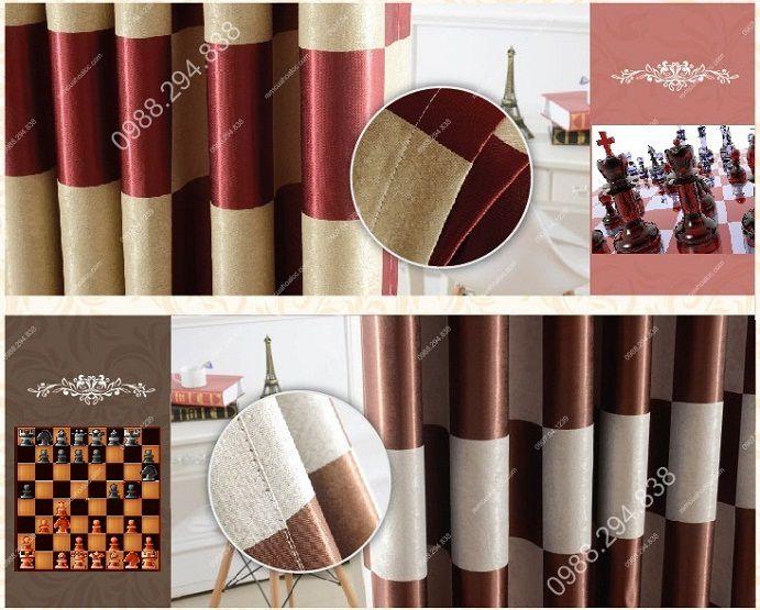 Rèm cửa cao cấp tại hà nội họa tiết bàn cờ vua 18