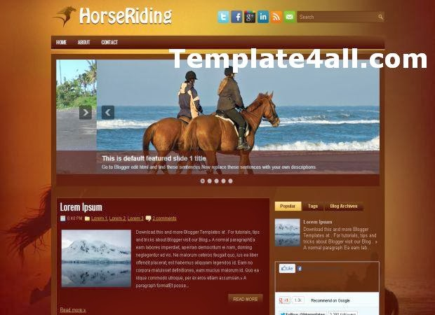 Horse Brown Blogger Layout