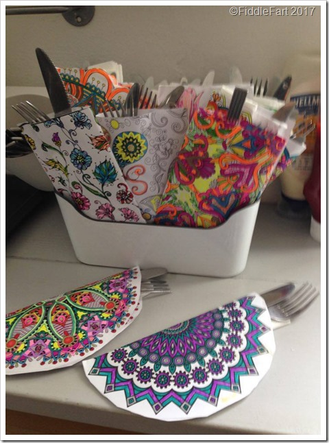 colouring in cutlery holders