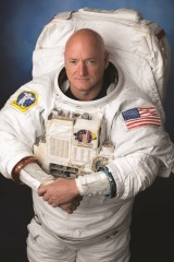 Official portrait of Expedition 45/46 long duration astronaut Scott Kelly in EMU.  Photo Date: August 11, 2014.  Location: Building 8, Room 183 - Photo Studio.  Photographer: Robert Markowitz