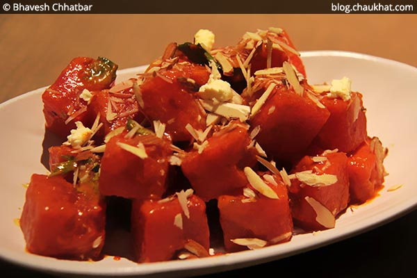 Vietnamese Watermelon Salad at Shizusan (The Asian Bistro) in Phoenix Market City at Viman Nagar area of Pune