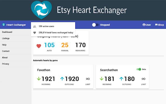 Etsy Heart Exchanger