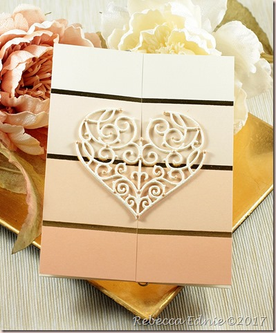 c4c 18 ornate heart love card
