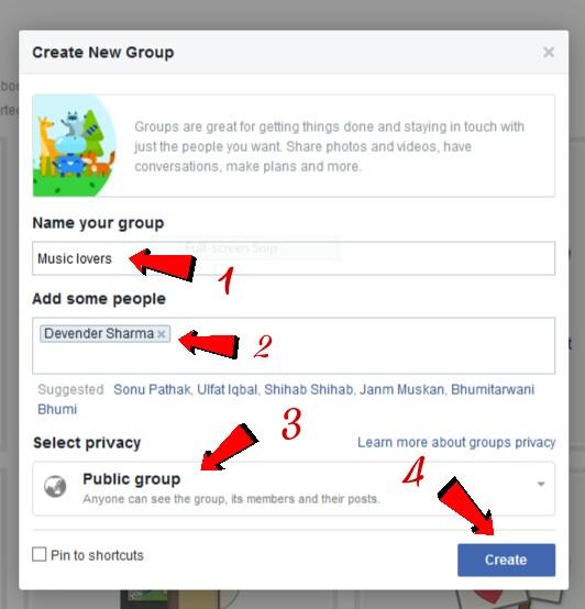 Facebook Par Apna Group Kaise Create Kare .