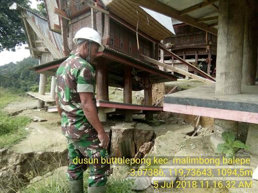 Akibat Hujan Deras, Dua Lumbung Padi di Malimbong Balepe, Amblas