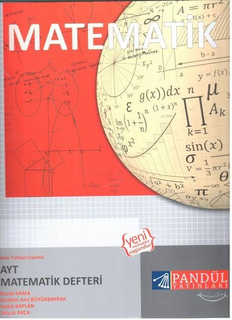 Pandül Yayınları - AYT Matematik - Defter