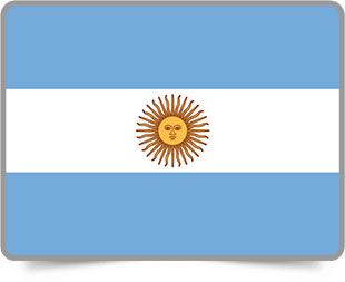 Argentine framed flag icons with box shadow