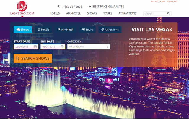 website las vegas dot com