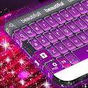 粉红色和紫色的键盘 icon