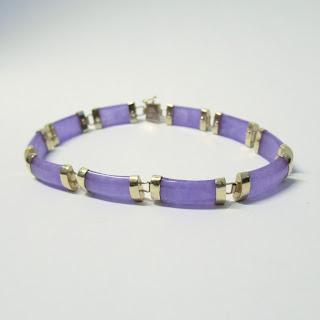 14K Gold & Amethyst Bracelet