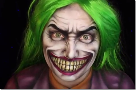 Maquillaje de Joker para disfraz