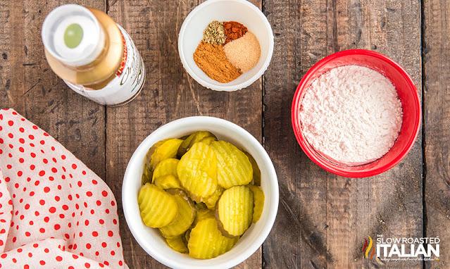 Ingredients Air Fryer Pickles