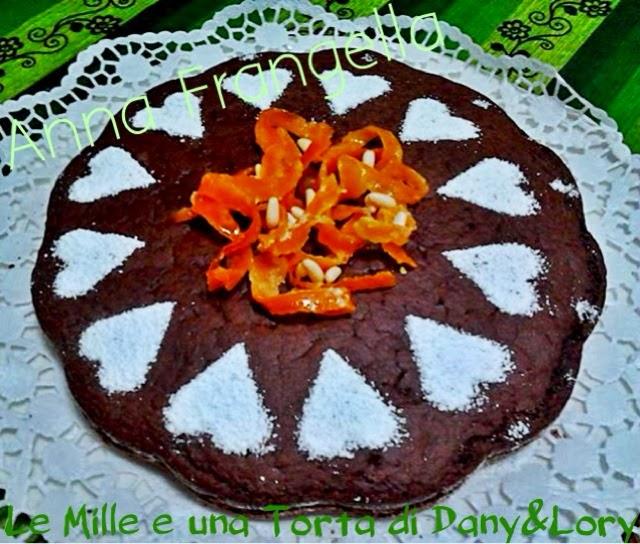 torta africana con cioccolato e arance