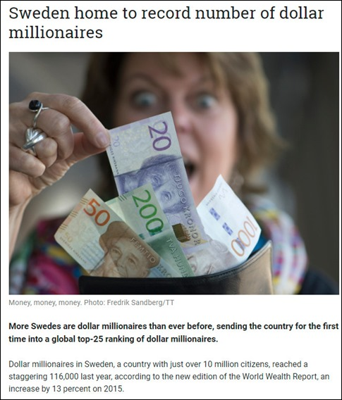 dollar millionaires in Sweden