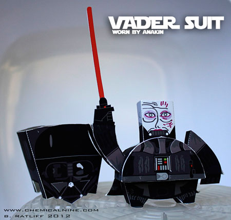 Vader Suit Paper Toy