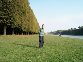 On the grounds of the Château de Versailles