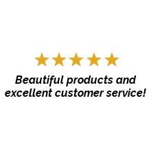 Customer Review - Beautiful products and excellent customer service!