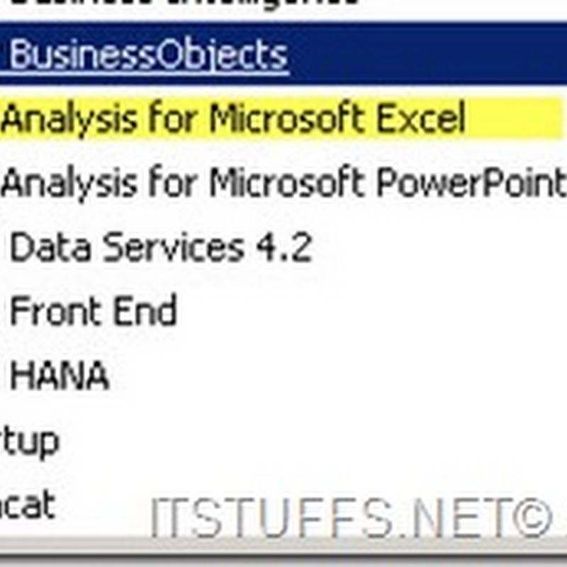 Reporting on Analysis for Microsoft Excel