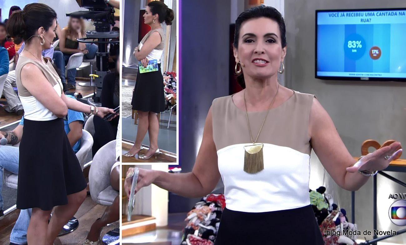 moda do programa Encontro - look da Fátima Bernardes dia 4 de junho