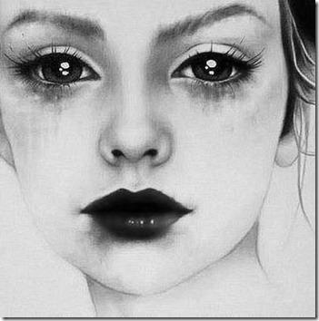dibujos lapiz llorar y tristeza  (20)
