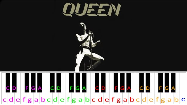 Love Of My Life by Queen ~ Piano Letter Notes