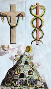 Flamel Hieroglyphic Figures 2 From Des Beruhmten Philosophi Nicolai Flamelli Chymische Werke 1751, Alchemical And Hermetic Emblems 1