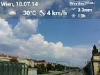 Überraschend viele Quellungen, besonders gen Osten! #wetter #wien #Wetterbeobachtung