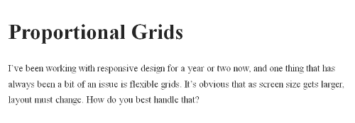 Proportional Grids