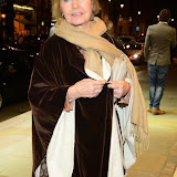 WWW.ENTSIMAGES.COM -   Prunella Scales  arriving at       East is East - press night at Trafalgar Studios London October 16th 2014                                                 Photo Mobis Photos/OIC 0203 174 1069