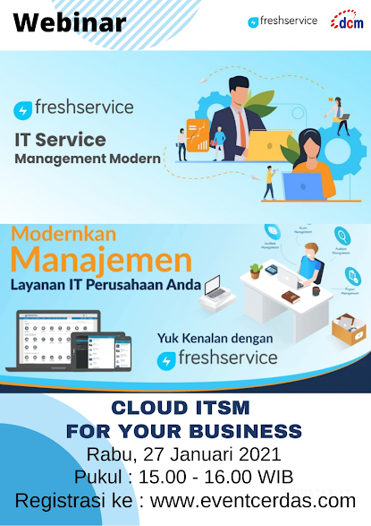 Webinar IT SERVICE MANAGEMENT Modern with FreshService 27 Jan 2021