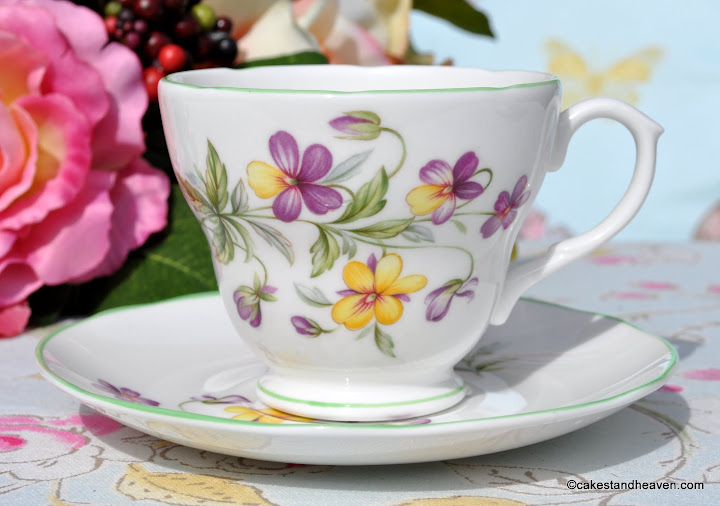 Royal Burlington Viola Pattern Teacup and Saucer