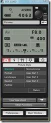 eos utility remote control panel
