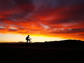 La bici en el desierto de Atacama