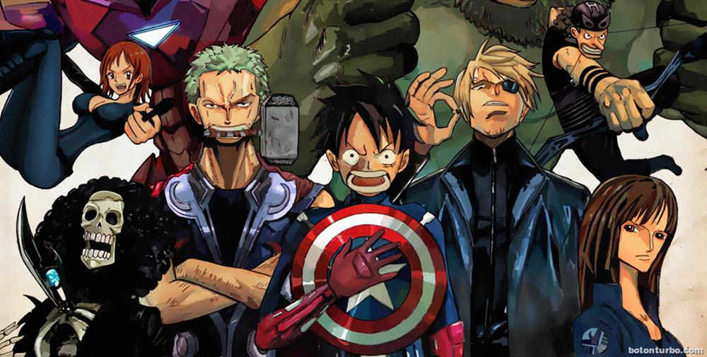 "Así se vería ""Capitán América Civil War"" al estilo One Piece"