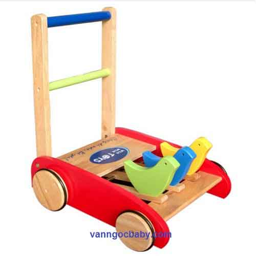 Xe tập đi em bé bằng gỗ